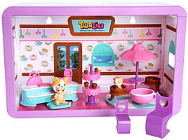 Twozies Младенцы тузис кафе Cafe Playset Moose