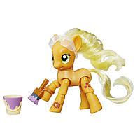 My Little Pony Фигурка пони с артикуляцией Эплджек урок рисования Explore Equestria Applejack Painting Poseable Pony