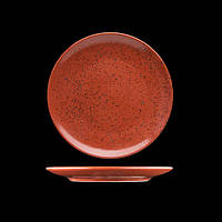 Тарелка фарфоровая 16 см. красная, круглая Life style VOLCANO, G.Benedikt