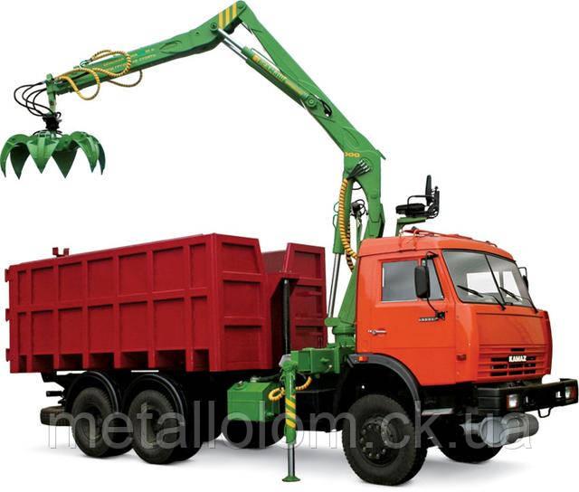 Спец транспорт для вывоза металлолома.