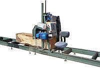 Ленточная пилорама 11 кВт с ЧПУ и креслом оператора
