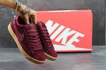 Кроссовки Nike SB замшевые,бордовые, фото 3