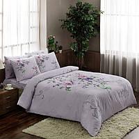 Двуспальное евро постельное белье TAC Clementine Lilac Ранфорс