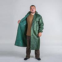 Плащ дождевик ПВХ нейлон зеленый