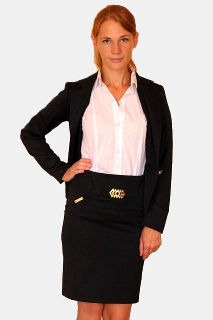 Черный пиджак школьный с одной пуговицей 42-44-46 р