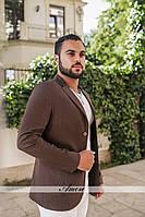 Пиджак на пуговицах, ткань лен, подкладка.  Цвета коричневый, синий, черный, зеленый, голубой беж ввлад №47-20