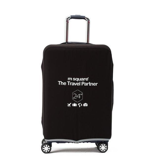 Черный чехол на чемодан М