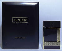 Подарочная кремниевая зажигалка SPUNK в деревянной упаковке.