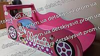 Детская кровать машина для девочки Минни Маус