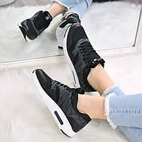 Кроссовки женские Nike Air Max черно - серые 3492 , спортивная обувь