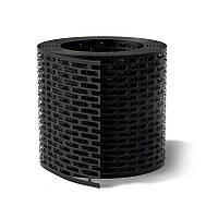 Лента вентиляции свеса 100 мм*5 м/п цвет чёрный, Wa-bis Польша