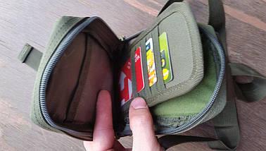 Сумочка тактическая однолямочная маленькая (органайзер, кошелёк, отсек для смартфона), фото 2