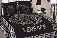 Черное постельное белье Версаче евро