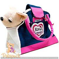 Детская гламурная собачка в сумочке Кикки М 3218