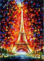 Картина по номерам Эйфелева башня в огнях КНО076 Идейка