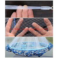 Кастинговая сеть 3.6м.фризби (Парашют) леска 0.3 заводской 10 ячейка 10 метров шнур