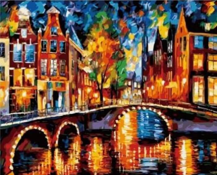 Картина по номерам Огни Амстердама КНО1013 Идейка