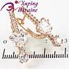 Серьги позолота Сердце-Камень +1 маленькие камни на палочке камней (9 шт.)
