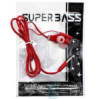 Наушники Tour Super Bass в пакете красные