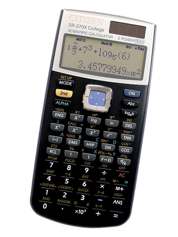 Калькулятор Citizen SR-270X College научный, 274 формула, уравнения, 2-х строчный дисплей