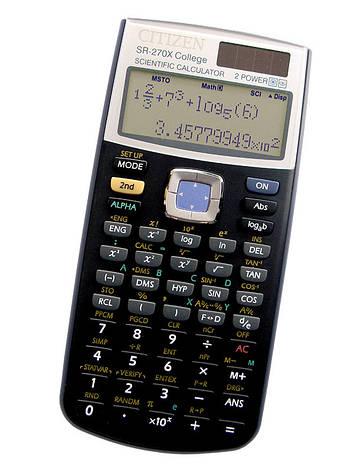 Калькулятор Citizen SR-270XPU College научный, 274 формула, уравнения, 2-х строчный дисплей, фото 2