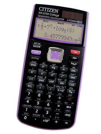 Калькулятор Citizen SR-270X College научный, 274 формула, уравнения, 2-х строчный дисплей, фото 2