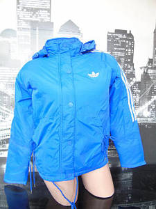 Женская куртка Adidas синяя