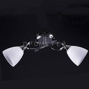 Припотолочная люстра на две лампочки (никель)P3-37554/2C/CR+WT