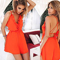 Комбинезон женский шортами, ткань шелк-сатин, 4 расцветки ,супер качество ст №285-500