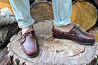 Мужские мокасины Sebago коричневые