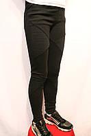 Школьные черные стрейчевые штаны-леггинсы для девочек от 4 до 14 лет. Фирма-Niebieski Польша. (Школа-2017).