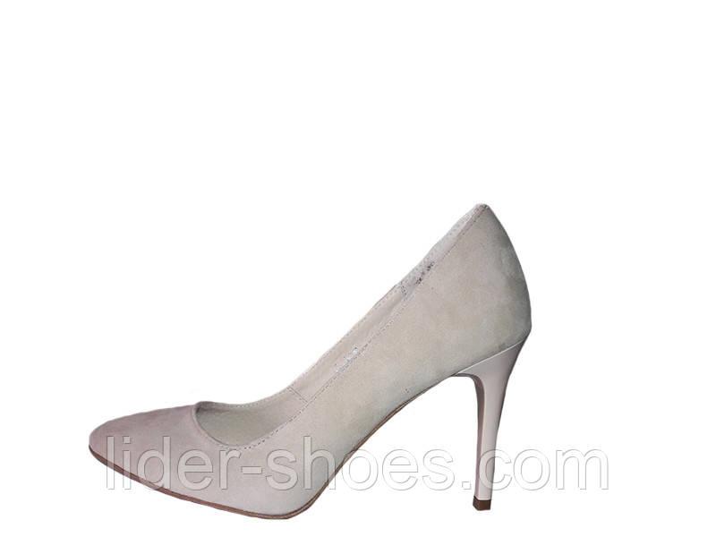Женские туфли лодочки натуральная замша