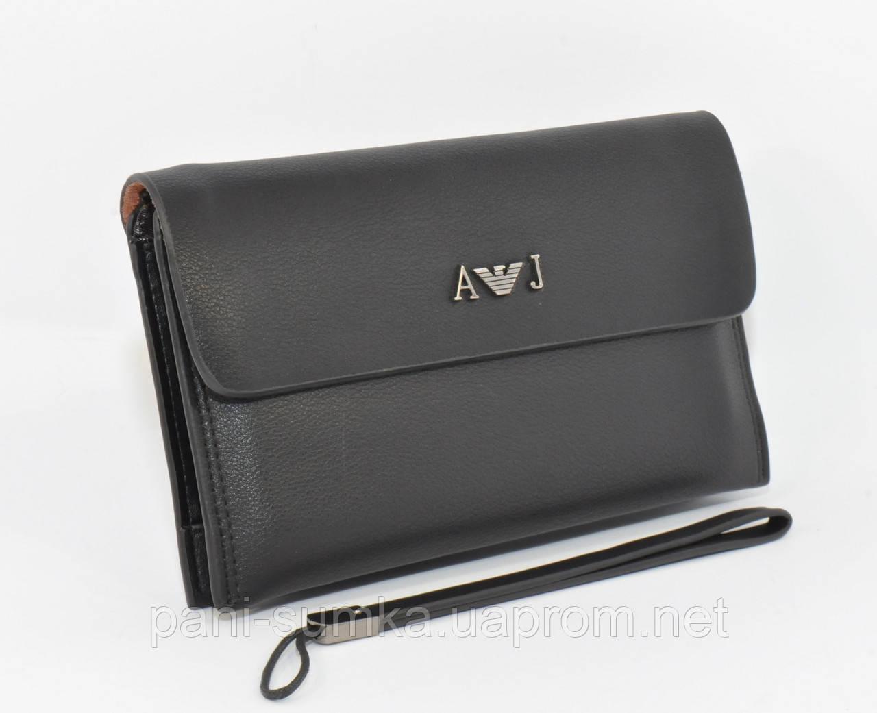 06b025eefdb5 Клатч мужской Giorgio Armani 9801-2 черный - Интернет магазин