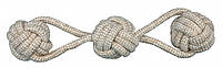 Игрушка Trixie Playing Rope with Woven-in Balls для собак плетеная, с узлами, 8х37 см