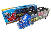 Модель трейлера + 6 машинок в коробке 88133