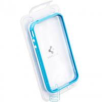 Чехол-бампер пластиковый для iPhone 4S голубой