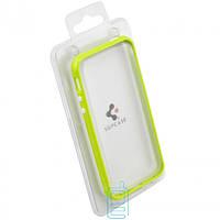 Чехол бампер для iPhone 4 пластик салатовый
