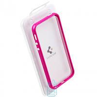 Чехол бампер для iPhone 4 пластик розовый