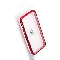 Чехол бампер для iPhone 4 пластик красный