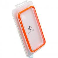 Чехол бампер для iPhone 4 пластик оранжевый