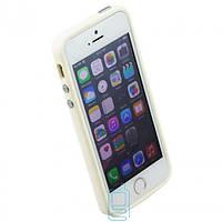 Чехол бампер для iPhone 5 Bampers белый