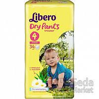Подгузники-трусики детские Libero Dry Pants 4 7-11 кг 34 шт.