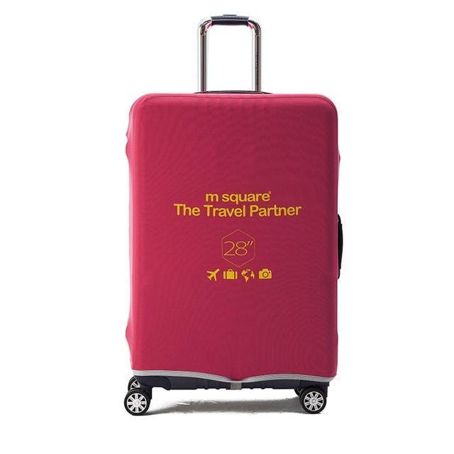 Чохол на валізу рожевий L
