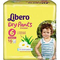 Подгузники-трусики детские Libero Dry Pants 6 13-20 кг 16 шт.