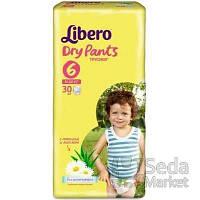 Подгузники-трусики детские Libero Dry Pants 6 13-20 кг 30 шт.
