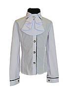"""Блуза школьная """"Александра"""". С съемным жабо."""