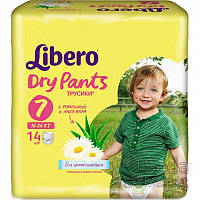 Подгузники-трусики детские Libero Dry Pants 7 16-26 кг 14 шт.