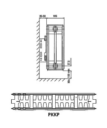 Радиатор KRAFTER S22 500×1000, фото 2
