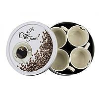 """Набор чашек фарфоровый 170 мл """"New Bone China. Coffee Time """""""