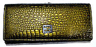 Женский кошелек на кнопке болотного цвета из натуральной кожи BaliSa